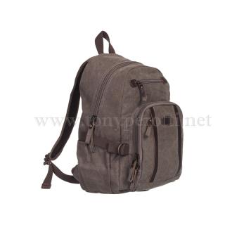 Брендовый холщёвый рюкзак 1014-Ctr