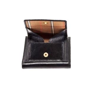Кожаное портмоне монетницей на кнопке АРТ:1619-I