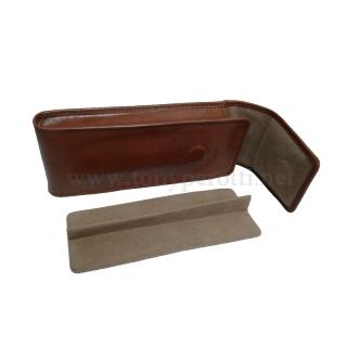 Кожаный футляр для очков, ручек АРТ: 3458-Tk