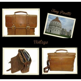 Мужской кожаный портфель АРТ: 9617-Vt Винтаж
