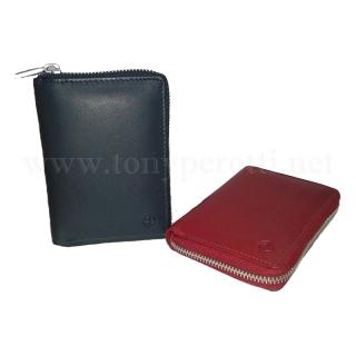 Кожаное портмоне на молнии 5086-Cor