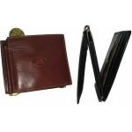 Кожаное портмоне на каркасе АРТ:1717-I