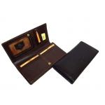 Кожаный бумажник на кнопке арт:1902-I