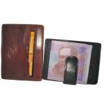 Кожаная кредитница АРТ:2553-I с зажимом для денег