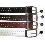 Ремень 306/40 кожаный с перфорацией