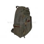 Брендовый холщёвый рюкзак 1013-Ctr