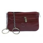 Ключница с монетницей АРТ:359L-I кожаная