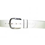 Белый кожаный ремень ART:4060