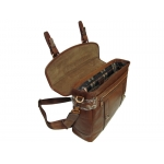 Кожаный винтажный портфель