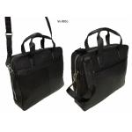 Кожаный портфель 9953-Vs на молнии