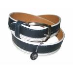Кожаный джинсовый комбинированный ремень ART:196/40